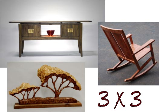 Fine Wood Furniture and Sculpture Three New Works by Three Local Artists